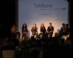 Podiumsdiskussion zu Vielspielen, Kosten und Jugendschutz auf der GamesLab Jugendtagung in Nürnberg