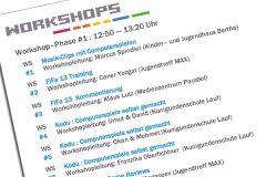 Das Workshopprogramm auf der Jugendtagung in Nürnberg