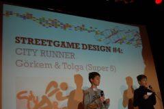 Die Spielentwickler präsentieren und erklären ihre Streetgames