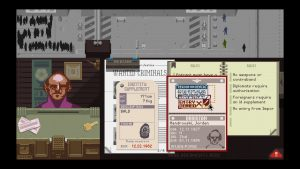 Eine Szene in Papers, Please